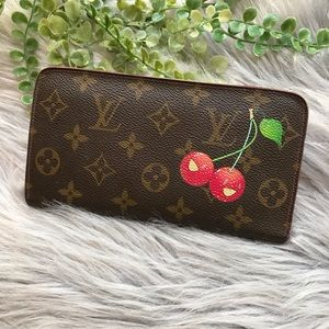 Louis Vuitton Murakami Cherry Zip Around Wallet